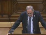 Torra, en el Parlament