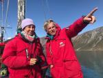 La banquera Ana Botín explora Groenlandia junto a Jesús Calleja para experimentar el cambio climático