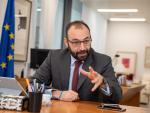 El consejero de Economía, Manuel Giménez, en un momento de la entrevista con 20minutos.