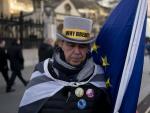 Un británico anti-brexit, el día de la salida del Reino Unido.