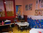 El despacho del colegio Agustín de Arguelles de Alcorcón convertido en aula.