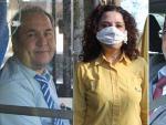 """Almudena, una repartidora de Correos declara, el primer día laboral en estado de alarma por coronavirus, que """"esto es lo único que me han dado para protegerme: los guantes. La mascarilla me la he hecho yo con el papel del váter. Estamos teniendo más trabaja porque somos menos compañeros""""."""
