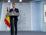 Pedro Sánchez, en la rueda de prensa