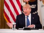 El presidente de EE UU, Donald Trump, durante una reunión con su Gabinete en la Casa Blanca.