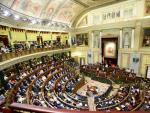 Plano general del hemiciclo del Congreso de los Diputados.
