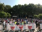 Manifestación de la hostelería en Sevilla para reclamar más ayudas al sector.