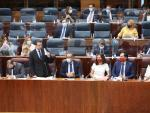 Sesión plenaria en la Asamblea de Madrid