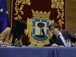 La vicealcaldesa, Begoña Villacís, y el alcalde de Madrid, José Luis Martínez-Almeida. Archivo.