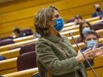 La vicepresidenta cuarta del gobierno, Teresa Ribera, interviene durante la Sesion de Control al Gobierno en el Senado, 3 de noviembre de 2020. Foto: Angel Navarrete/Pool