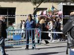 Las calles y plazas en las que habitualmente se ubica el Rastro se vallaron y efectivos de la Policía Municipal y de Protección Civil controlaron los accesos. También se desplegaron agentes en el interior del recorrido.
