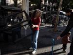 Una terraza abierta este lunes 23 de noviembre en el barrio de Gràcia, en la primera jornada de reapertura de bares y restaurantes tras la segunda ola de Covid.