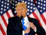El presidente saliente de EE UU, Donald Trump, durante su discurso ofrecido el pasado 4 de noviembre.