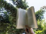 Una persona lee un libro.