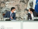 Pedro Sánchez y Pablo Iglesias, en un Consejo de Ministros