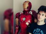 Tomás Castellanos y su armadura Mark 7 de Iron Man.