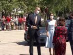 La Reina Letizia, impecable con un vestido 'animal print'