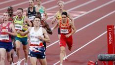 Ignacio Fontes en las semifinales de 1500 metros