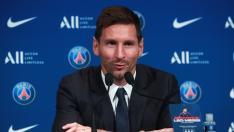 Messi, presentado por el PSG
