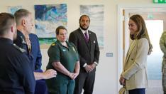 Kate Middleton visita a la Real Fuerza Aérea británica