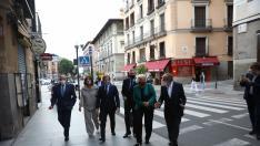 Los alcaldes de Madrid en la calle Mayor