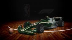 Los coches de F1 con los colores de la NBA