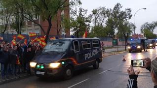 Efectivos de la Policía Nacional destinados en Cataluña regresan a Madrid