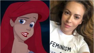 Ariel está inspirada en el físico de Alyssa Milano