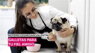 Mi perro es mi San Valentín: Galletas para tu fiel amigo