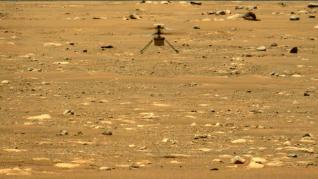 El helicóptero Ingenuity logra su vuelo más rápido y a mayor altura sobre Marte