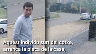 Robo de una placa en la casa de Puigdemont