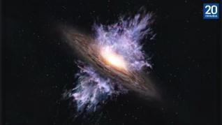 El observatorio ALMA da con la tormenta de viento galáctico más antigua descubierta