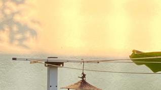 Patio con vistas al océano