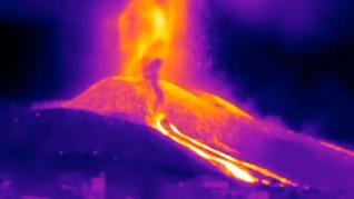 Vídeo infrarrojo del volcán
