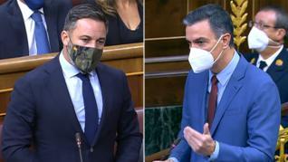 """Abascal acusa al Gobierno de """"importar delincuencia"""" y Sánchez responde que """"crispar y odiar no es patriotismo"""""""