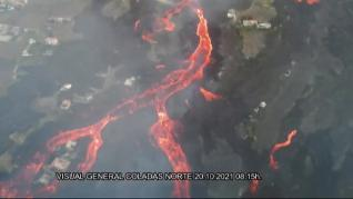 La lava llega a la zona urbana de La Laguna y amenaza una gasolinera