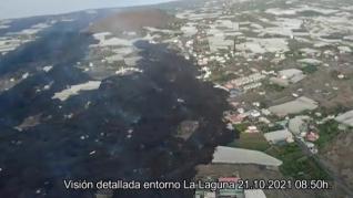 Las coladas que han arrasado La Laguna se unen en un solo brazo que amenaza ya a otros barrios