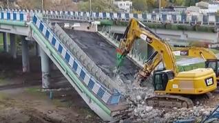 Derrumbe de una autopista en Polonia
