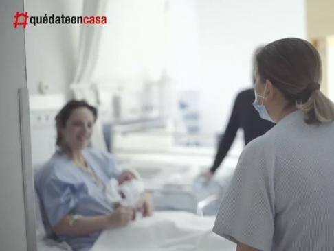 El emotivo vídeo a los bebés nacidos en un Madrid azotado por el coronavirus