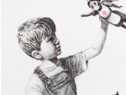 Homenaje de Banksy a los sanitarios en un hospital británico