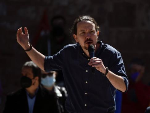 Pablo Iglesias durante el acto en Alcalá de Henares