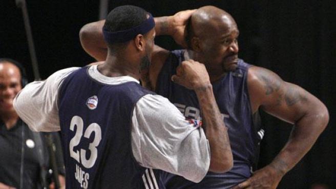 Sahquille, en un partido con los Miami Heat. (Reuters)