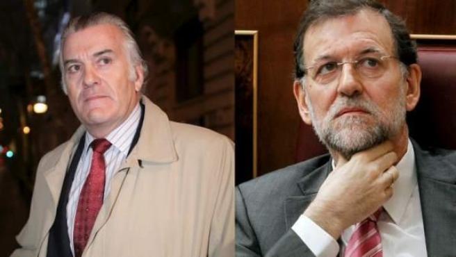 Montaje fotográfico con los rostros de Luis Bárcenas y Mariano Rajoy.
