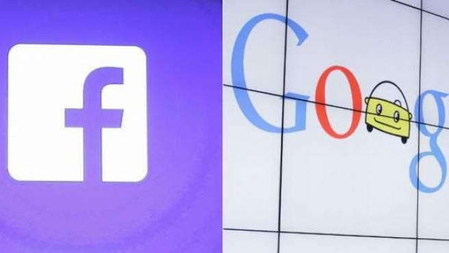 De izquierda a derecha y de arriba abajo, imágenes de Twitter, Yahoo, Facebook y Google.