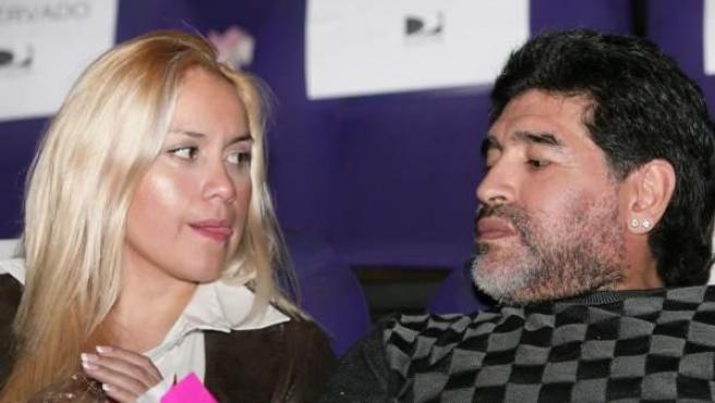 Maradona y Verónica Ojeda en 2010.