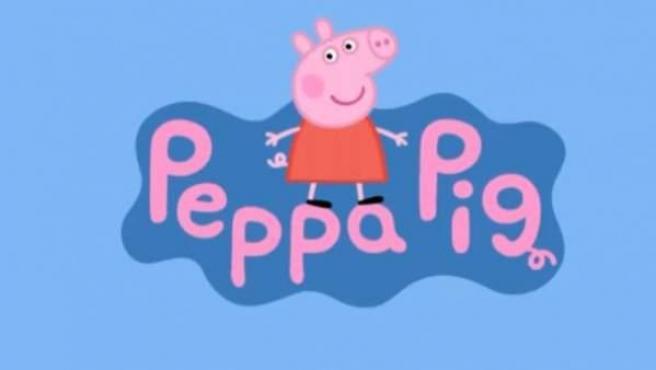 Cabecera de la serie de dibujos animados Peppa Pig.