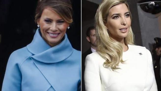 Montaje de fotos de Melania e Ivanka Trump, esposa e hija, respectivamente, del recién elegido presidente de Estados Unidos, Donald Trump.