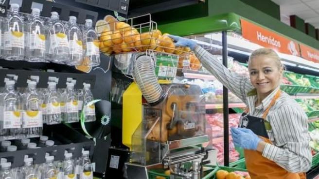 Máquina de zumo de naranja de Mercadona