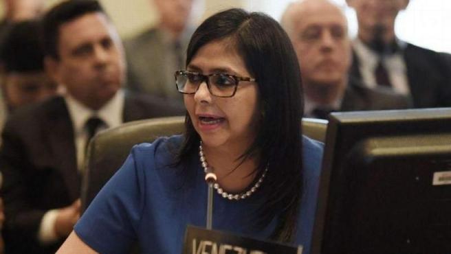 La ministra de Relaciones Exteriores de Venezuela, Delcy Rodríguez, durante una reunión de la Organización de Estados Americanos (OEA), en una imagen de archivo.