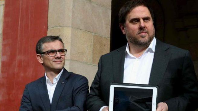 Josep Maria Jové Lladó junto a Oriol Junqueras en una imagen de 2017.