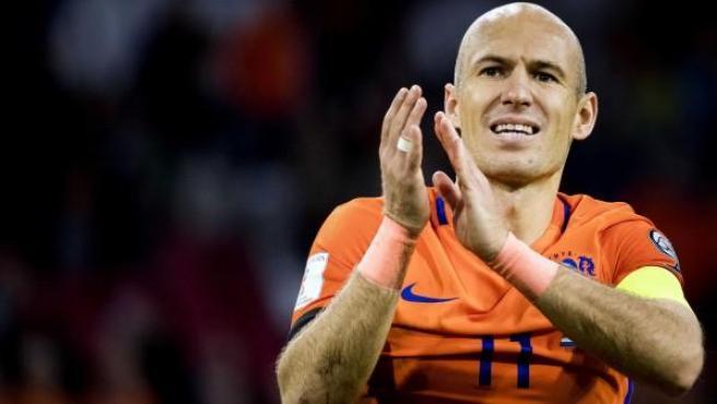 El jugador de la selección de Holanda Arjen Robben.
